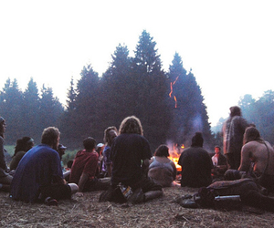 friends, nature, and fire image