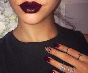 nails, lips, and lipstick image