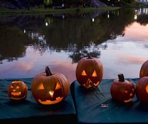 hallowen, orange, and calabazas image