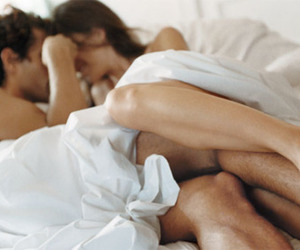 bed, together, and couple image