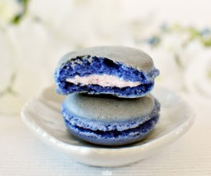 macaroons, sweet, and blue image