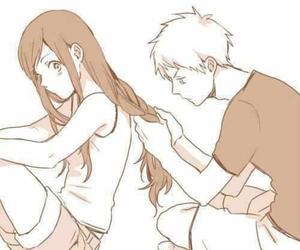 anime, boy, and couple image