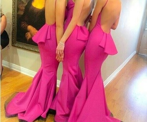 chic, fancy, and pink dresses image