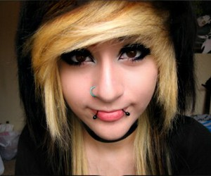 nose piercing, Piercings, and scene image
