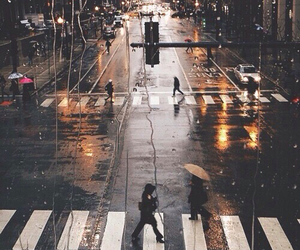rain, city, and street image