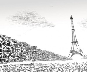 drawing, paris, and words image