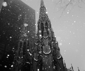 black & white, black and white, and snow image