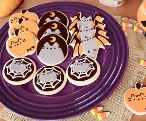 Halloween, Cookies, and pusheen image