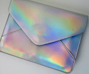 bag, fashion, and holographic image