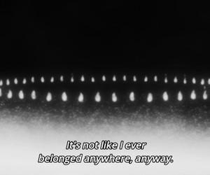 anime, black and white, and dark image