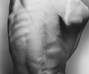 anatomy, back, and black and white image