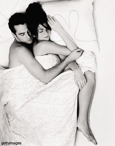 bed, boy, and couple image