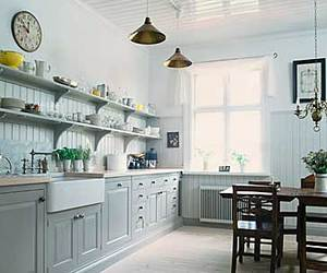 shabby chic chandelier, kitchen cabinets, and shabby chic dresser image