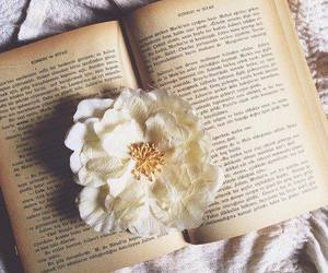 book, flowers, and hipster image