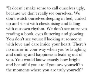 quote, beautiful, and yourself image