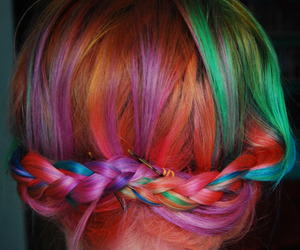 braid, color, and colorfull image