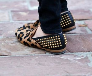 fashionable, shoes, and leopard image