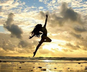 dance, girl, and beach image