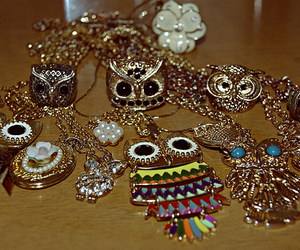 owl, necklace, and rings image