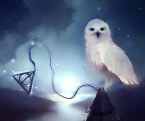 art, deathly hallows, and harry potter image