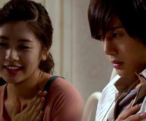 kim hyun joong, playful kiss, and oh ha ni image