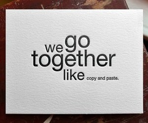 love, text, and together image