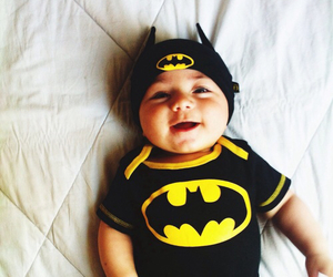 baby, batman, and cute image