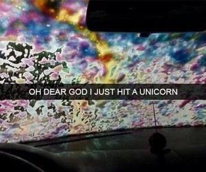 unicorn, funny, and rainbow image