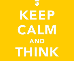keep calm and think image