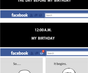 facebook, birthday, and funny image
