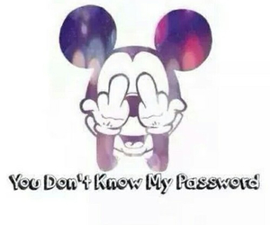 password, background, and mickey mouse image