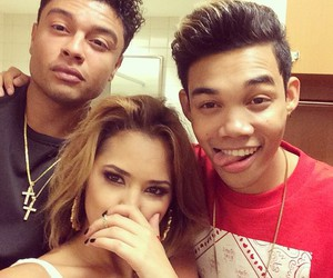 friend, roshon fegan, and jasmine v image