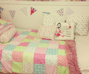 bed, colors, and decor image