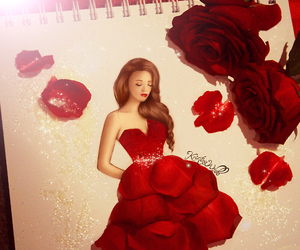 rose, red, and drawing image
