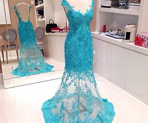 dress, blue, and pretty image