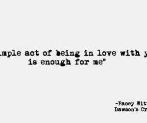 quote, dawson'screek, and love image