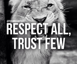 respect, quote, and trust image