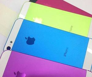 iphone, blue, and colors image