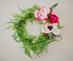 diy, door wreath, and mandaryna image