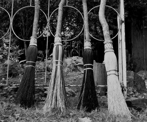 witch, broom, and broomstick image
