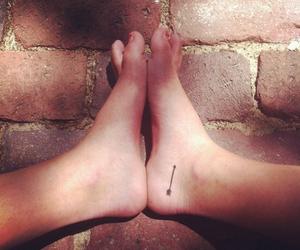 tattoo, arrow, and feet image