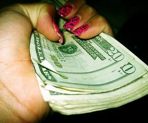 money, leopard nails, and cool nails image