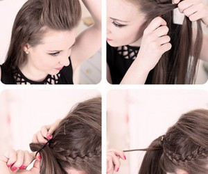 fashion, ponytail, and tutorial image