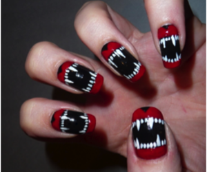 nails, vampire, and black image