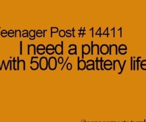 battery, phone, and teenager post image