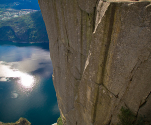 norway, nature, and cliff image
