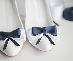 shoes, white, and bow image