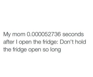 mom, fridge, and funny image