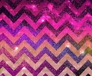 sparkly chevron wallpaper image
