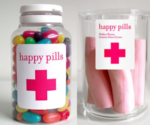 happy, pills, and candy image